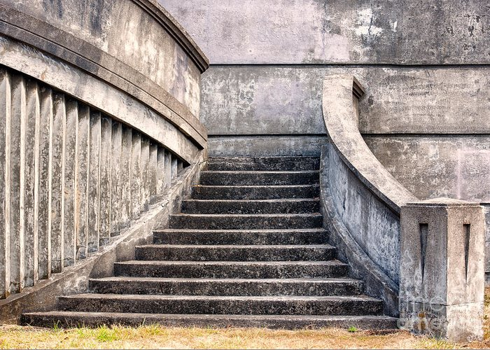 Stairway Greeting Card featuring the photograph Stairway To The Unknown by Sandra Bronstein