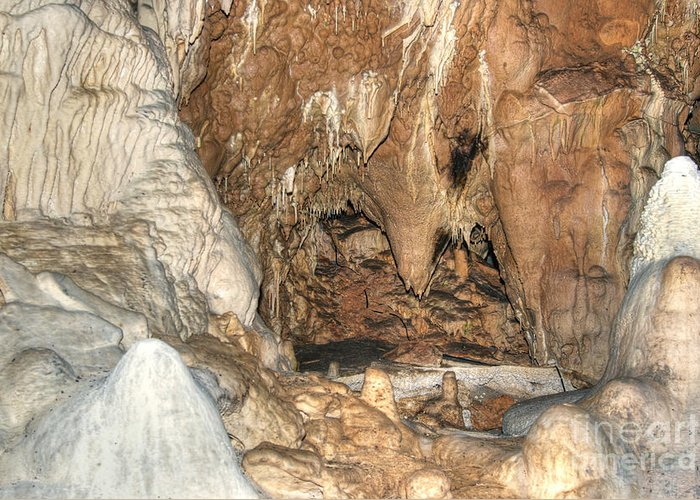 Cave Greeting Card featuring the photograph Stalactites by Michal Boubin