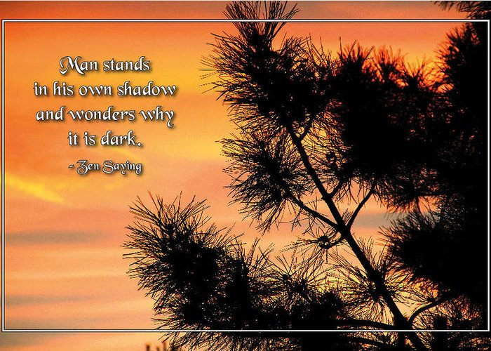 Standing In Our Own Shadow Greeting Card featuring the photograph Standing In Our Own Shadow by Mike Flynn