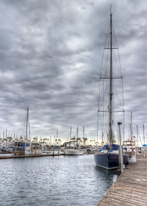Dock Greeting Card featuring the photograph Standing Tall by Heidi Smith