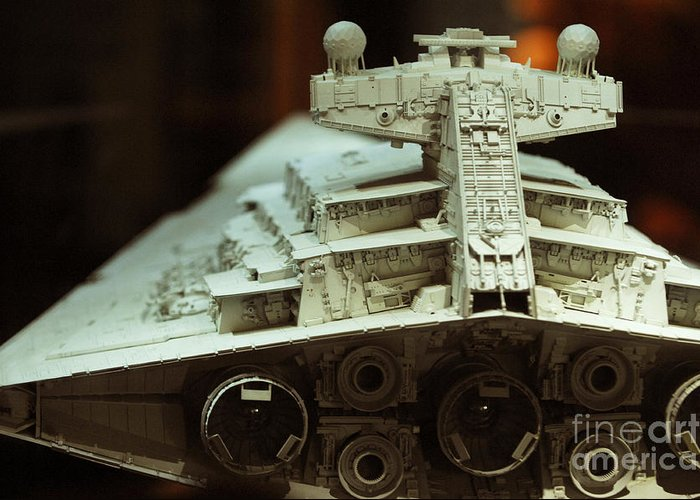 Fighter Greeting Card featuring the photograph Star Destroyer Maquette by Micah May