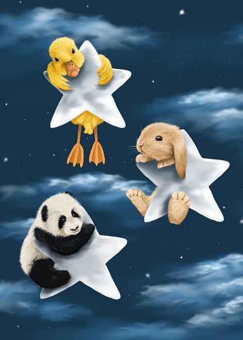 Blue Panda Greeting Cards