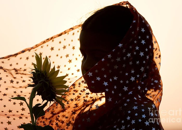 India Greeting Card featuring the photograph Star Girl by Tim Gainey