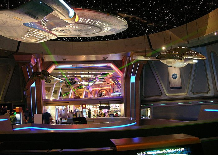 Star Trek Greeting Card featuring the photograph Star Trek The Experience by Keith Stokes