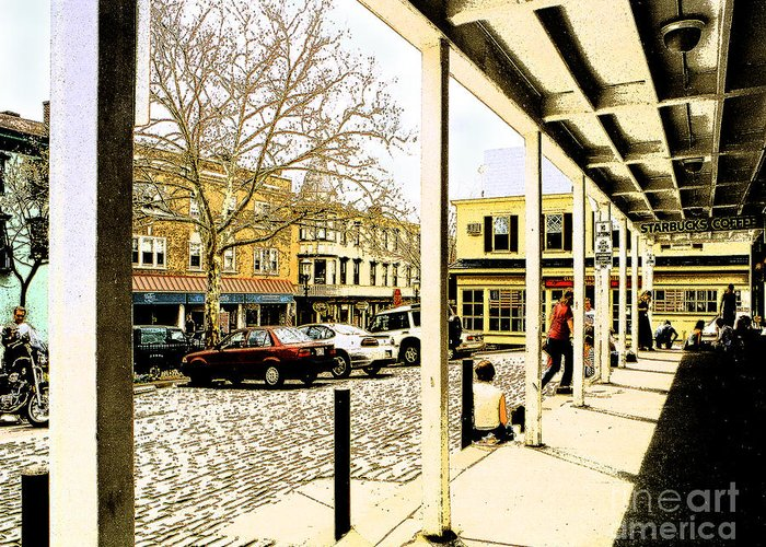 Doylestown Greeting Card featuring the photograph Starbucks - Doylestown by Addie Hocynec