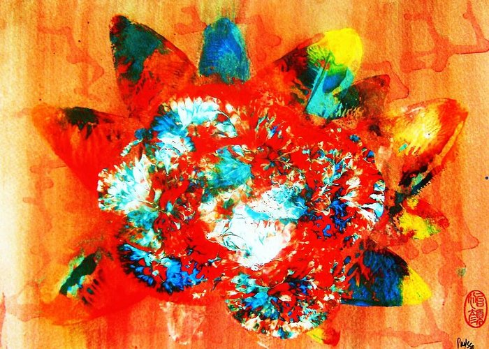 Abstract Greeting Card featuring the painting Starburst Nebula by Roberto Prusso