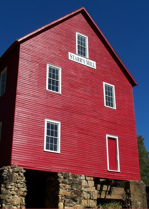 Starr's Mill Greeting Card featuring the photograph Starr' S Mill 2012 by Jake Hartz
