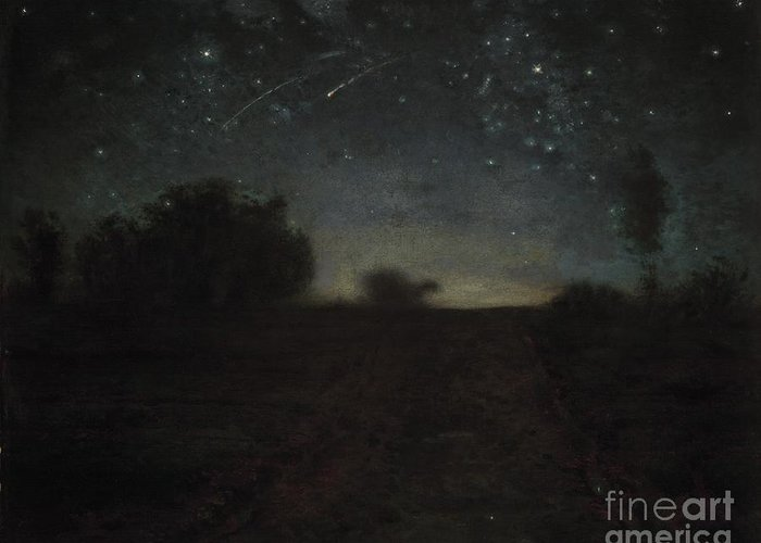 Stargazing Paintings Greeting Cards