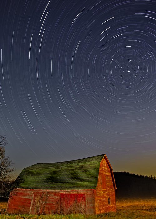 Star Trails Greeting Card featuring the photograph Starry Night by Susan Candelario