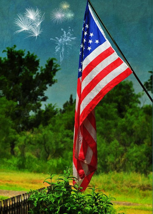 Stars And Stripes Greeting Card featuring the photograph Stars And Stripes Forever by Karen Slagle