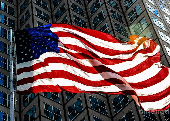 American Flag Greeting Card featuring the photograph Stars And Stripes by Rene Triay Photography