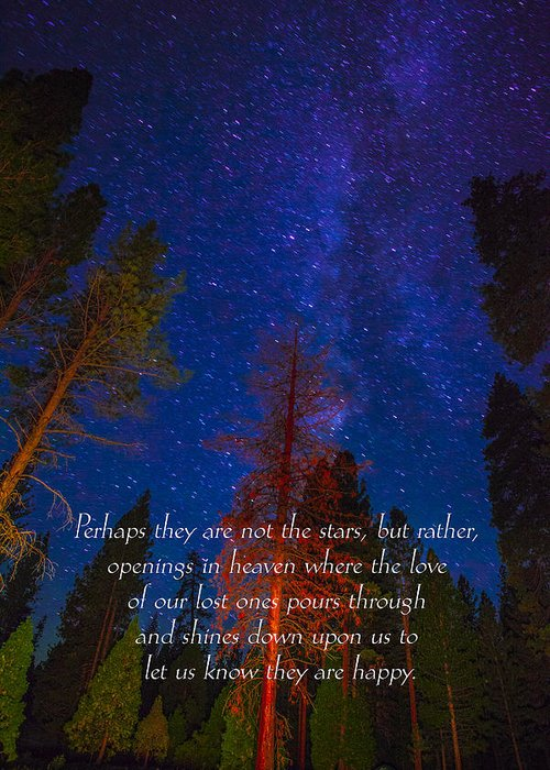 Inspirational Greeting Cards Grieving Note Cards Greeting Card featuring the photograph Stars Light Star Bright Fine Art Photography Prints And Inspirational Note Cards by Jerry Cowart