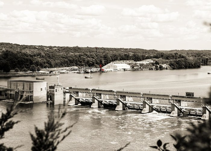 Vs Fine Art Greeting Card featuring the photograph Starved Rock Lock And Dam by Vera Icon Fine Art