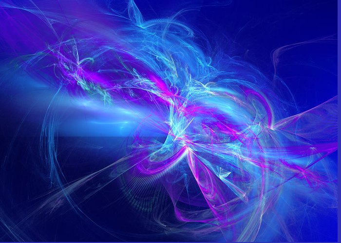Abstract Greeting Card featuring the digital art State Of A Dream by Jeff Iverson