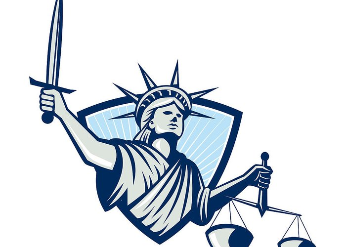 Lady Justice Greeting Cards