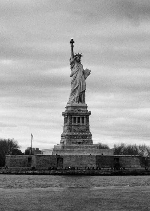 Usa Greeting Card featuring the photograph Statue Of Liberty Liberty Island New York City by Joe Fox