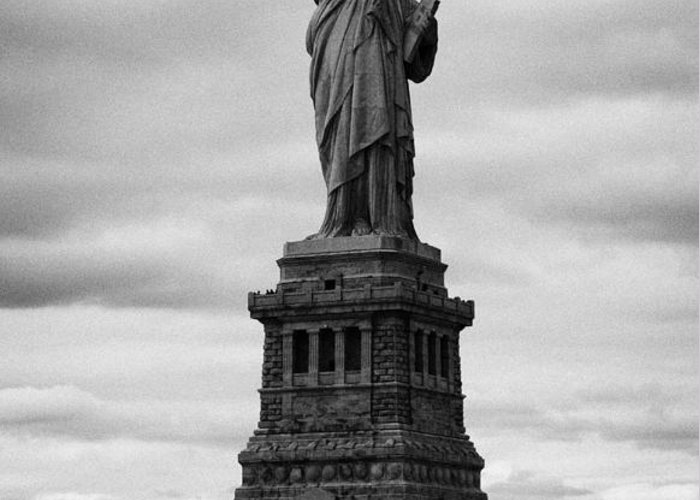 Usa Greeting Card featuring the photograph Statue Of Liberty National Monument Liberty Island New York City Usa by Joe Fox