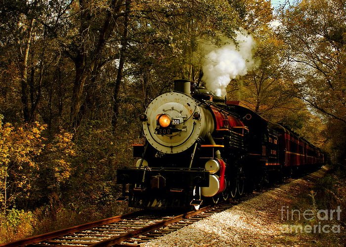 Transportation Greeting Card featuring the photograph Steam Engine No. 300 by Robert Frederick