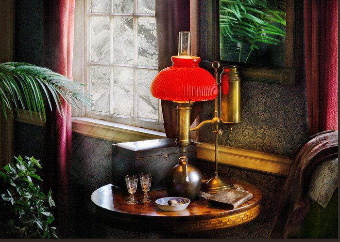 Savad Greeting Card featuring the photograph Steam Punk - Victorian Suite by Mike Savad