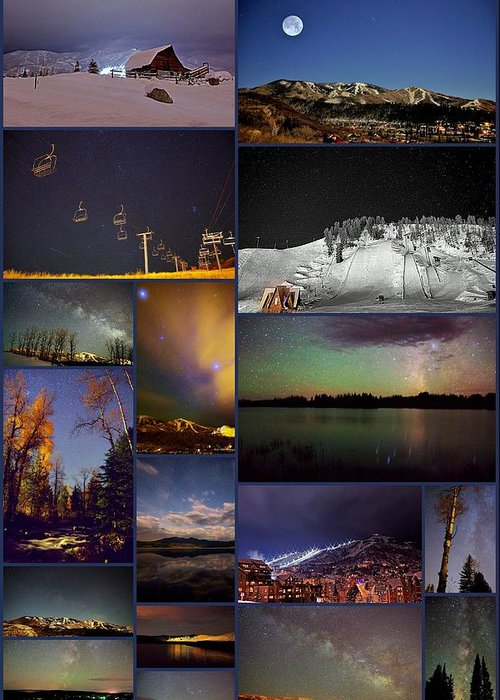 Steamboat Springs Greeting Card featuring the photograph Steamboat Nights by Matt Helm