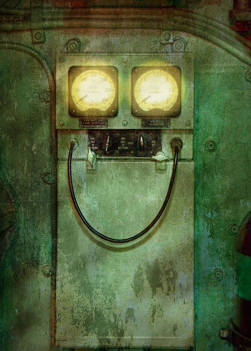 Steampunk Greeting Card featuring the photograph Steampunk - Be Happy by Mike Savad