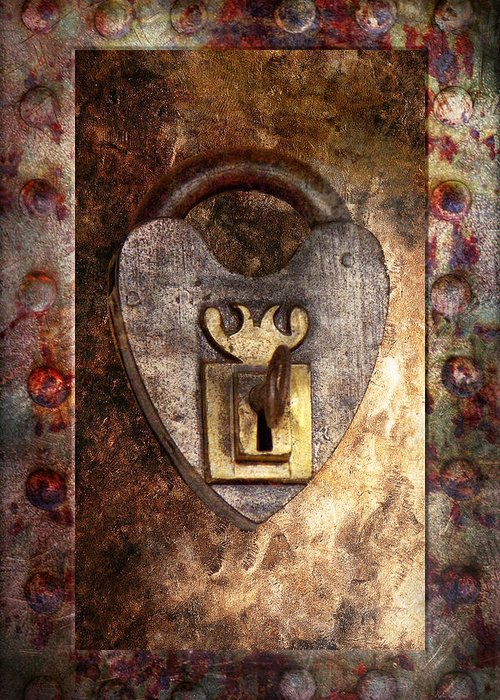 Locksmith Greeting Card featuring the photograph Steampunk - Locksmith - The Key To My Heart by Mike Savad