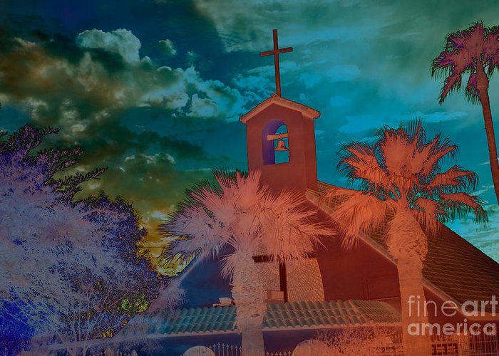 Chapel Photograph Greeting Card featuring the photograph Steeple Bell Tower by Beverly Guilliams