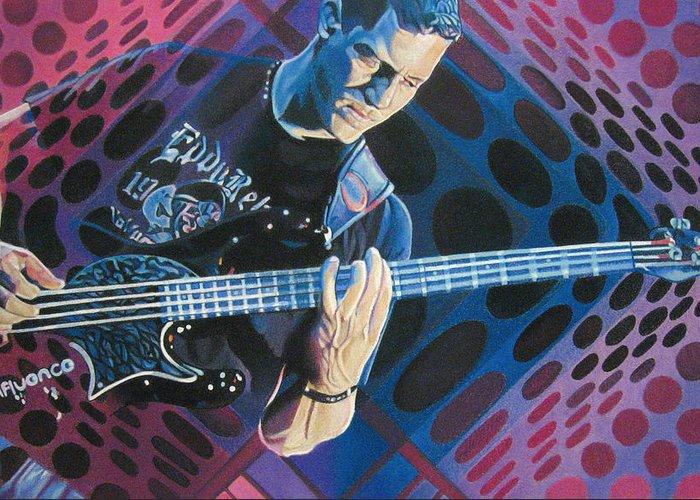 Stefan Lessard Greeting Card featuring the drawing Stefan Lessard Pop-op Series by Joshua Morton