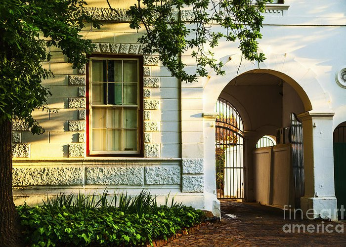South Africa Greeting Card featuring the photograph Stellenbosch Gate by Rick Bragan