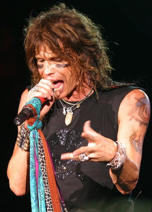 Aerosmith Greeting Card featuring the photograph Steven Tyler by Don Olea