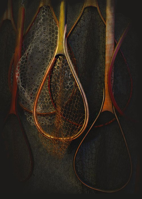 Fishing Greeting Card featuring the photograph Still Life - Fishing Nets by Jeff Burgess