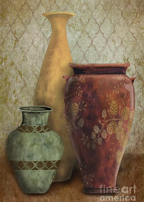 Original Painting Greeting Card featuring the painting Still Life-g by Jean Plout