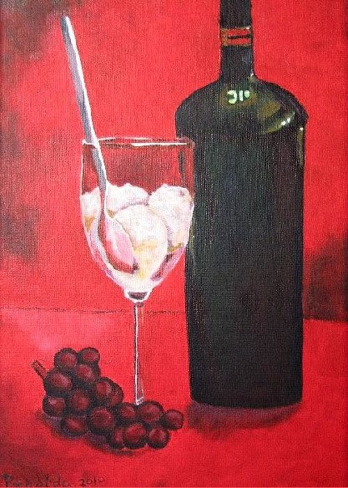 Grapes Greeting Card featuring the painting Still Life by Prasida Yerra