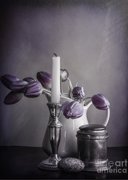 Jug Greeting Card featuring the photograph Still Life Study In Purple by Terry Rowe