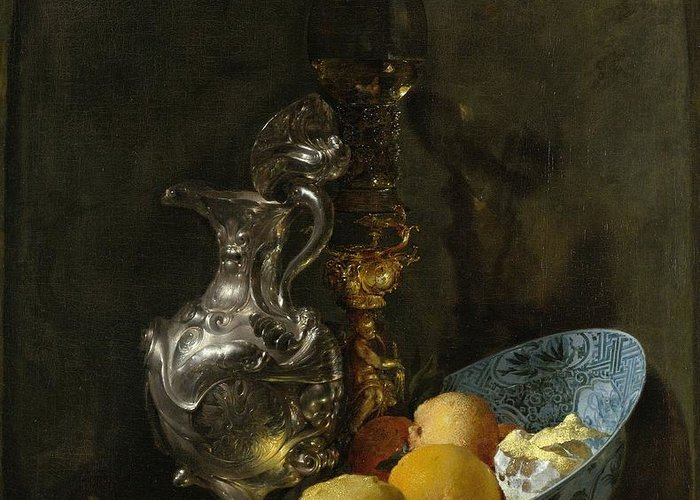 Still Life With Old Pitcher Paintings Greeting Cards
