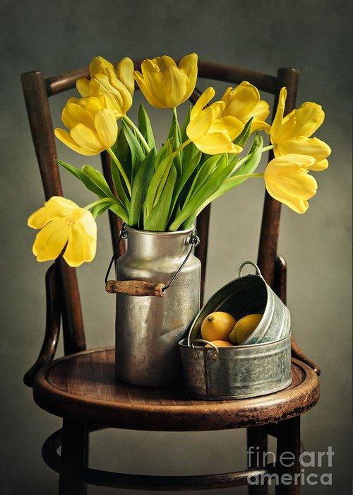 Yellow Tulip Greeting Cards