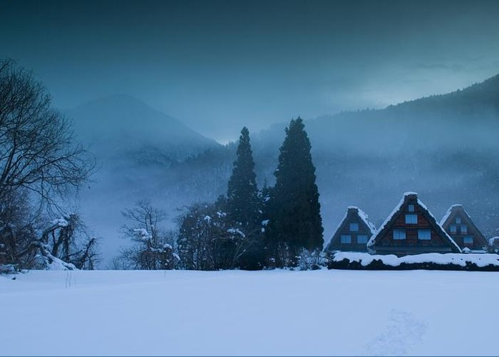 Winter Greeting Card featuring the photograph Still Of Evening by Aaron Bedell
