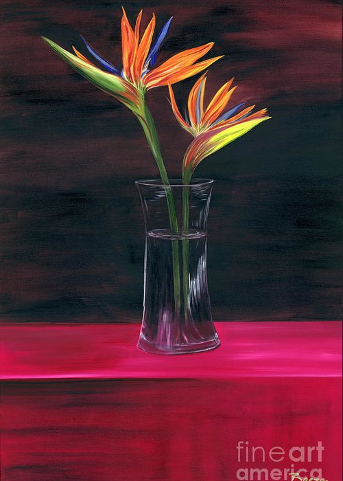 Still Life Greeting Card featuring the painting Still Paradise by Christine Baeza