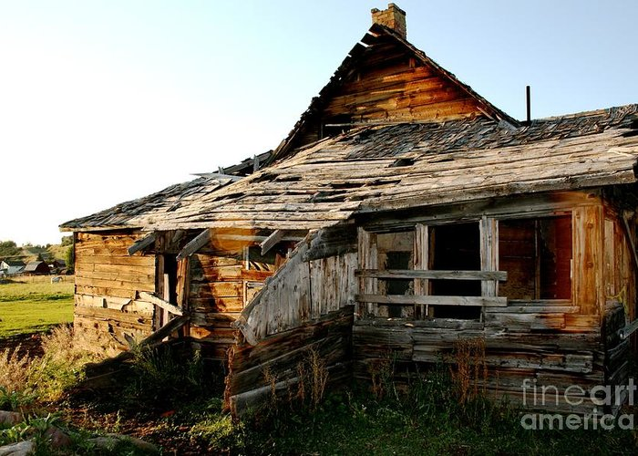 Barn Greeting Card featuring the photograph Still Standing by Jacqui Thomas