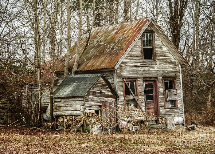 House Greeting Card featuring the photograph Still Standing by Terry Rowe