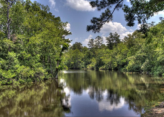 River Greeting Card featuring the photograph Still Waters by David Troxel
