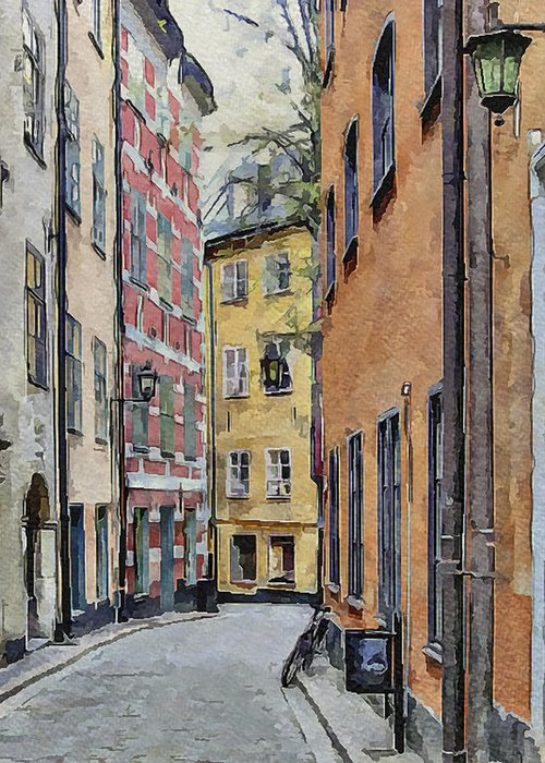 Stockholm Greeting Card featuring the digital art Stockholm 15 by Yury Malkov
