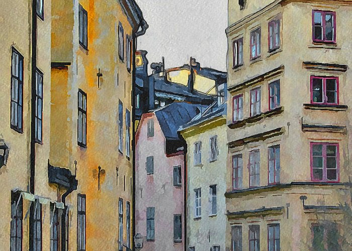 Stockholm Greeting Card featuring the digital art Stockholm 8 by Yury Malkov