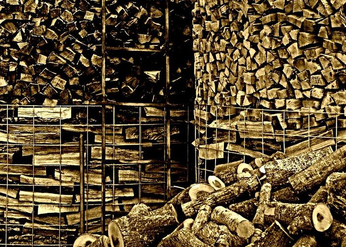 Nature Greeting Card featuring the photograph Stockpile by Chris Berry