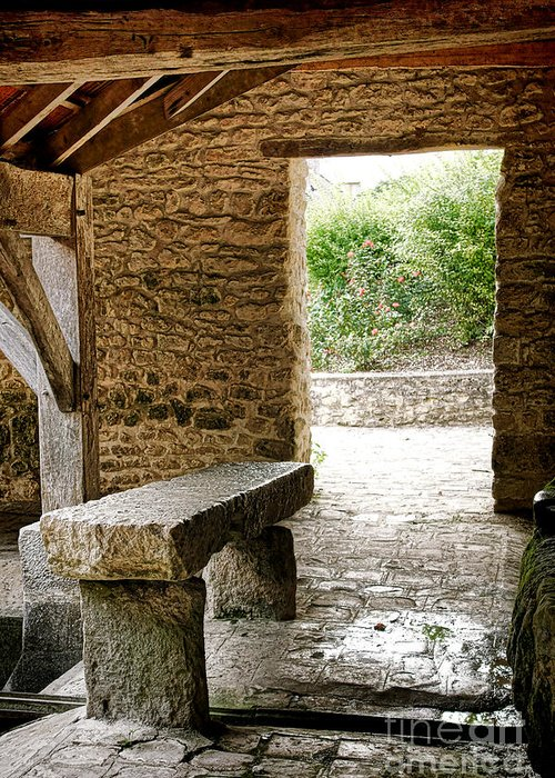 France Greeting Card featuring the photograph Stone Bench by Olivier Le Queinec