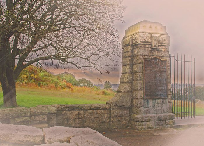 Groton Greeting Card featuring the photograph Stone Gate by Tom Gari Gallery-Three-Photography