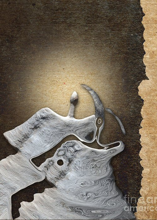 Stone Men Greeting Card featuring the digital art Stone Men 29 - Love Rythm by Variance Collections