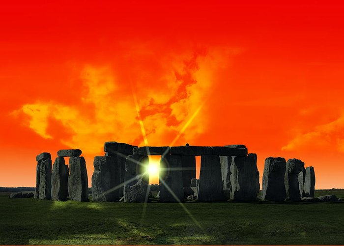 Stonehenge Greeting Card featuring the photograph Stonehenge Solstice by Daniel Hagerman
