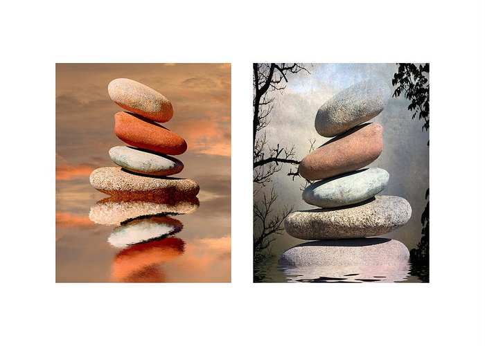 Stones Greeting Card featuring the photograph Stones by Stephen Warren