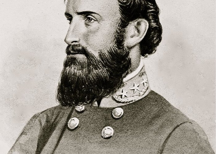 Stonewall; Jackson; General; Confederate; Cavalry; Civil; War; South; Military; 1863 Greeting Card featuring the photograph Stonewall Jackson Confederate General Portrait by Anonymous
